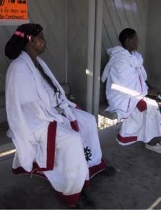 Ethiopian Ladies at Bus Stop