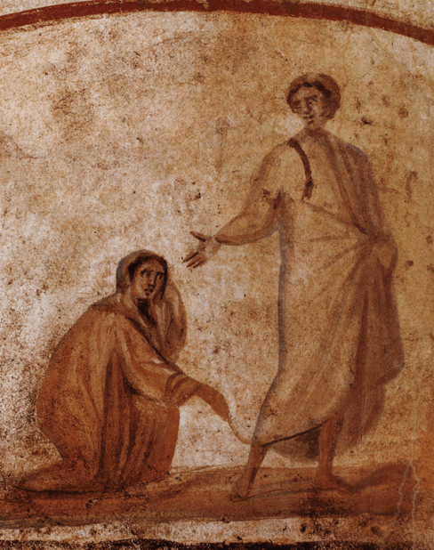 Jesus Healing a Bleeding Woman
