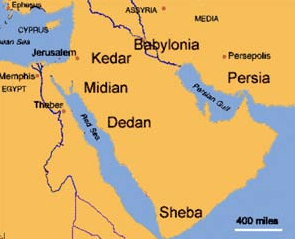 Sheba - map