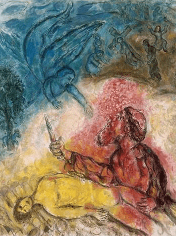 Chagall - Sacrifice of Isaac