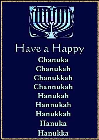 Why are there so many spellings of Hanukkah?